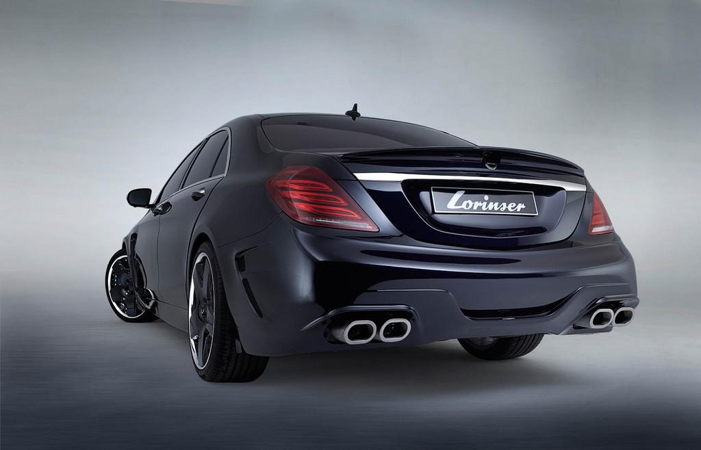 S Klasse Heck schr WW Close concrete - Sportservice Lorinser: Veredelte Mercedes-Modelle im Fotostudio