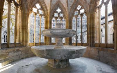 Kärcher: Renovierung des Dreischalenbrunnens im Kloster Maulbronn
