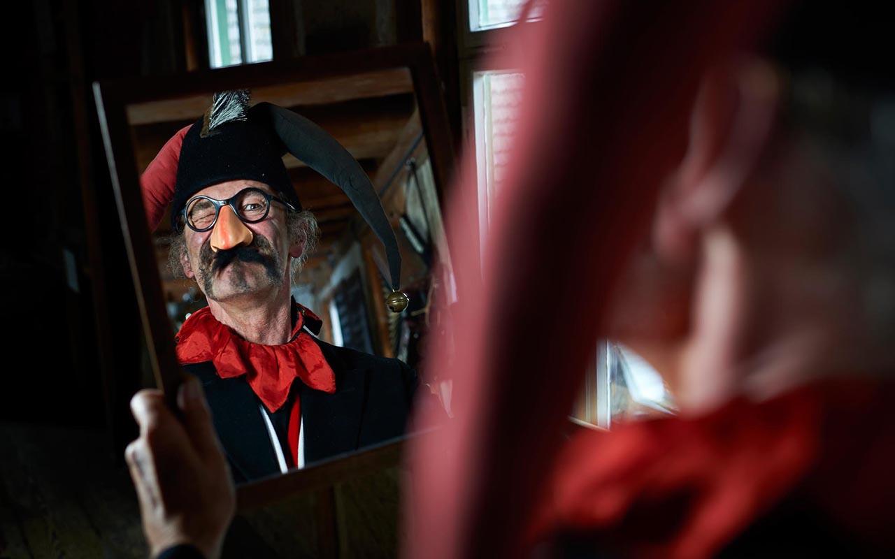 Narr Zauber 1920 - Zaubermühle Merklingen: zu Besuch beim Narren Frascatelli